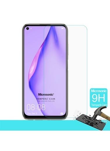 Microsonic Huawei P40 Lite Temperli Cam Ekran Koruyucu Renksiz